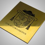 Messing poliert mit Logo Lasergravur