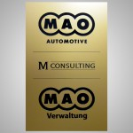 Firmenschild Aluminium gold eloxiert