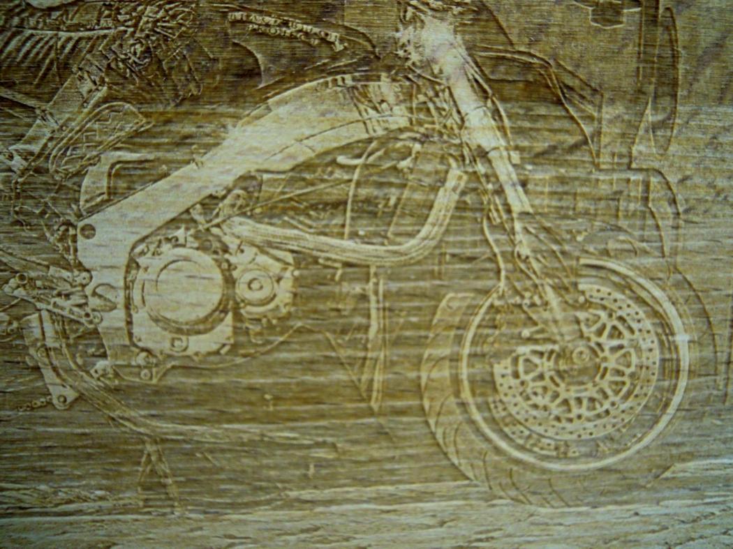 Fotogravur auf Holz