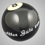 Billiard-Kugel graviert