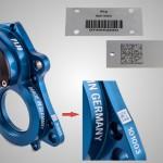 Lasergravur von Barcode und Herstellerkennzeichnung
