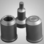 Runde Stahlstempel oder Prägestempel im Radius