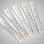 V2A-Leisten per Laser skaliert