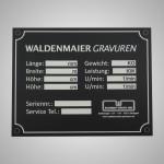 Herstellerschild aus Aluminium mit Lasergravur