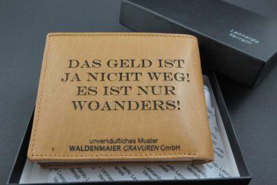 Geldbörse inkl. Ledergravur im Geschenkkarton