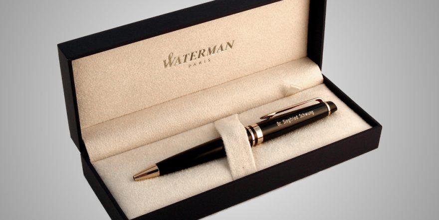 Name auf Stift graviert